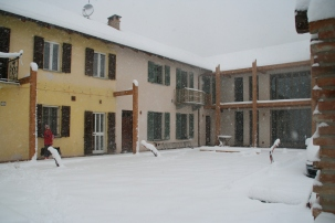 Snow view of House