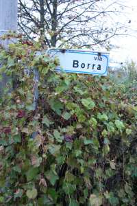 Via Borra Sign